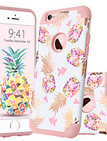 baratos -Capinha Para Apple iPhone 6 / iPhone 6s Antichoque / Estampada Capa traseira Fruta Rígida PC para iPhone 6s / iPhone 6