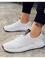 Недорогие -Муж. Комфортная обувь Сетка Весна Кеды Белый / Черный