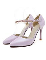 Недорогие -Жен. Балетки Полиуретан Весна Обувь на каблуках На шпильке Лиловый / Розовый / Светло-синий