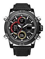 Недорогие -SMAEL Муж. Спортивные часы электронные часы Японский Японский кварц 50 m Защита от влаги Календарь Секундомер Нейлон Группа Аналого-цифровые На каждый день Мода Черный / Коричневый -