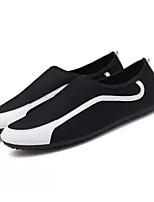 Недорогие -Муж. Комфортная обувь Полотно Весна Мокасины и Свитер Черный / Черно-белый / Красный