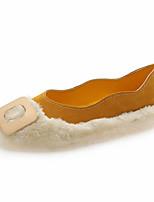 Недорогие -Жен. Комфортная обувь Полиуретан Осень На каждый день На плокой подошве На плоской подошве Черный / Желтый / Красный