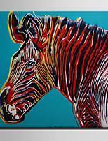 Недорогие -С картинкой Роликовые холсты / Отпечатки на холсте - Абстракция / Животные Modern