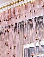 Недорогие -Панель двери Шторы занавески Спальня Цветочный принт / Современный стиль Полиэстер Активный краситель