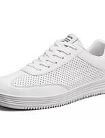 Недорогие -Муж. Комфортная обувь Микроволокно Лето Кеды Белый / Розовый и белый / Черно-белый