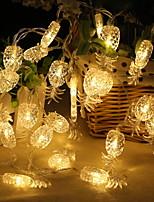 baratos -2,2 m Cordões de Luzes 20 LEDs Branco Quente Adorável / Legal Baterias AA alimentadas 1pç