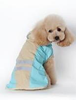 baratos -Cachorros / Gatos Capa de Chuva Roupas para Cães Sólido Azul / Rosa claro PU Leather Ocasiões Especiais Para animais de estimação Unisexo Prova-de-Água / A prova de Vento