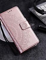 Недорогие -Кейс для Назначение Motorola MOTO G6 / Moto G6 Play / Moto G6 Plus Кошелек / Бумажник для карт / со стендом Чехол Цветы Твердый Кожа PU / Мото G5 Plus