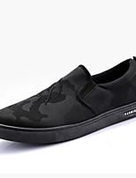 Недорогие -Муж. Комфортная обувь Полотно Осень На каждый день Мокасины и Свитер Нескользкий Контрастных цветов Белый / Черный