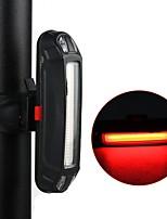 Недорогие -задние фонари Светодиодная лампа Велосипедные фары Велоспорт Водонепроницаемый, Регулируется, Анти-шоковая защита Литиевая батарея 10 lm Красный mi.xim