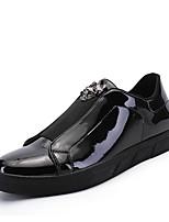 Недорогие -Муж. Комфортная обувь Полиуретан Осень На каждый день Кеды Нескользкий Черный / Серебряный / Синий