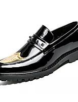 baratos -Homens Sapatos Confortáveis Microfibra Primavera & Outono Mocassins e Slip-Ons Preto / Amarelo