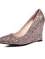 Недорогие -Жен. Комфортная обувь Синтетика Весна Обувь на каблуках Туфли на танкетке Золотой / Черный / Розовый