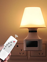 cheap -1pc Wall Plug Nightlight AC Powered Remote Controlled / New Design / Safety 220-240 V