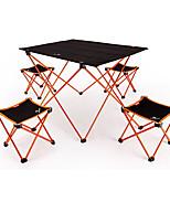 cheap -BEAR SYMBOL Camping Folding Chair / Camping Table Outdoor Lightweight, Anti-Slip, Folding Oxford Cloth, 7075 Aluminium for Fishing / Camping Orange