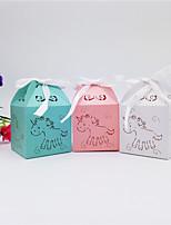 Недорогие -Кубик Мелованная бумага Фавор держатель с Ленты / Ленты Подарочные коробки - 50шт