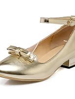 Недорогие -Жен. Комфортная обувь Полиуретан Весна Обувь на каблуках На низком каблуке Золотой / Серебряный / Розовый