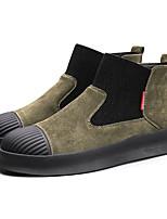 Недорогие -Муж. Комфортная обувь Свиная кожа Осень Кеды Черный / Синий / Хаки