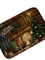Недорогие -рождественские коврики рождественские нейлоновые волокна / полистер, квадратный коврик высшего качества
