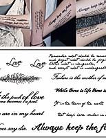 preiswerte -3 pcs Temporary Tattoos Nachrichtenserie Umweltfreundlich / Neues Design Körperkunst Korpus / Arm / Brust / Decal-Stil temporäre Tattoos / Tattoo Aufkleber