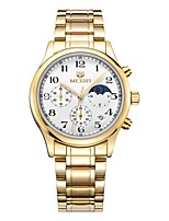 cheap -MEGIR Men's Sport Watch Dress Watch Japanese Quartz 30 m Water Resistant / Water Proof Calendar / date / day Chronograph Stainless Steel Band Analog Luxury Fashion Silver / Gold - Silver Golden
