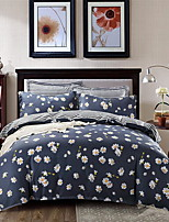 cheap -Duvet Cover Sets Floral / Geometric Polyster Printed 4 Piece