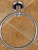 abordables -Crochet à Peignoir Design nouveau Moderne Aluminium 1pc anneau de serviette Montage mural