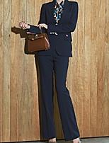 Недорогие -женские костюмы - сплошной цветной платок лацканы