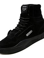 Недорогие -Муж. Комфортная обувь Полиуретан Осень На каждый день Кеды Доказательство износа Черный / Серый / Красный