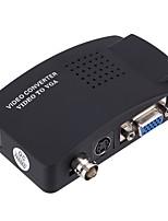 Недорогие -VGA Конвертер, VGA к VGA / BNC / S-Video Конвертер Female - Female 1080P