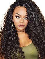 Недорогие -Натуральные волосы Лента спереди Парик Бразильские волосы / Бирманские волосы Волнистые Парик 130% Женский / Легко туалетный / Лучшее качество Нейтральный Жен. Длинные