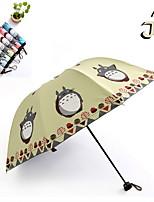 Недорогие -Нержавеющая сталь Жен. Солнечный и дождливой / обожаемый Складные зонты