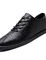 Недорогие -Муж. Комфортная обувь Полиуретан Осень На каждый день Кеды Нескользкий Черный / Коричневый