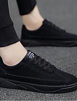 Недорогие -Муж. Комфортная обувь Полотно Лето На каждый день Кеды Черный / Серый / Красный