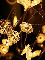 baratos -2m Cordões de Luzes 20 LEDs Branco Decorativa / Adorável Baterias alimentadas 1conjunto