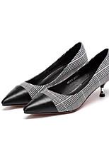 Недорогие -Жен. Балетки Наппа Leather Весна Обувь на каблуках На шпильке Черный / Коричневый