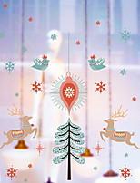 Недорогие -Оконная пленка и наклейки Украшение Рождество Праздник ПВХ Милый