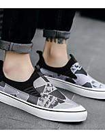 Недорогие -Муж. Комфортная обувь Полотно Осень Мокасины и Свитер Черный / Серый / Красный