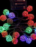 Недорогие -2м Гирлянды 20 светодиоды Разные цвета Декоративная / Cool Аккумуляторы AA