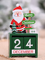 Недорогие -Орнаменты Мультяшная тематика деревянный Прямоугольный Мультфильм игрушки Рождественские украшения