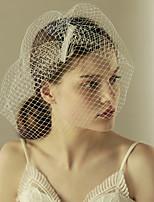 abordables -Une couche Style vintage / Style classique Voiles de Mariée Voiles Blush avec Couleur Unie Tulle