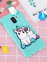 cheap -Case For Samsung Galaxy A8 Plus 2018 / A6+ (2018) Pattern / DIY Back Cover Unicorn Soft TPU for A5(2018) / A6 (2018) / A6+ (2018)