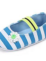 Недорогие -Девочки Обувь Полотно Весна & осень Обувь для малышей На плокой подошве Цветы для Ребёнок до года Черный / Синий / Розовый