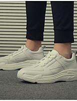 Недорогие -Муж. Комфортная обувь Микроволокно Весна лето На каждый день Кеды Белый / Черный