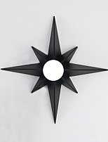 cheap -Modern Octagonal Star Pattern Design Simplicity Metal Wall Lights Living Room Restaurant Bedroom Bedside Lamp Stairs Hallway Light Fixture