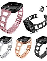 abordables -Bracelet de Montre  pour Fitbit Versa Fitbit Boucle Moderne / Design de bijoux Métallique Sangle de Poignet