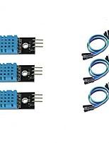 baratos -Módulo sensor de temperatura e umidade 3pcs dht11 para arduino raspberry pi 2 3