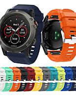Недорогие -Ремешок для часов для Fenix 5x Garmin Спортивный ремешок силиконовый Повязка на запястье