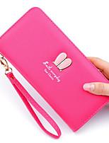 Недорогие -Жен. Мешки PU Бумажники Молнии Розовый / Пурпурный / Светло-лиловый