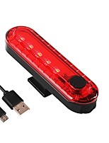 cheap -Tail Light LED Bike Light LED Cycling Portable, Adjustable, Travel Size Li-polymer 20 lm Rechargeable Power Red Camping / Hiking / Caving / Cycling / Bike